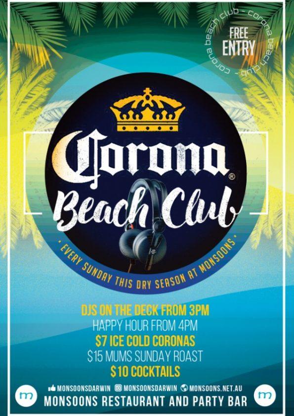 Corona Beach Club at Monsoons Darwin