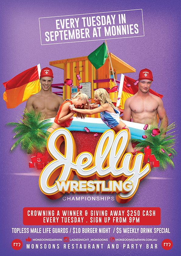 Jelly Wrestling Every Tuesday at Monnies