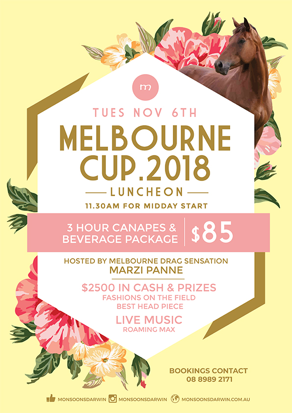 Melbourne Cup day at Monsoons