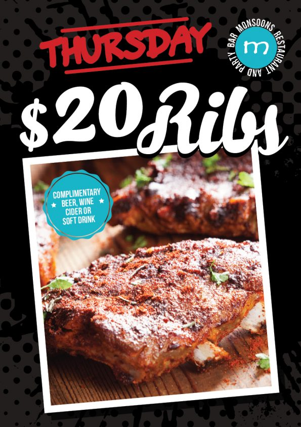 Ribs Thursdays at Monsoons Darwin