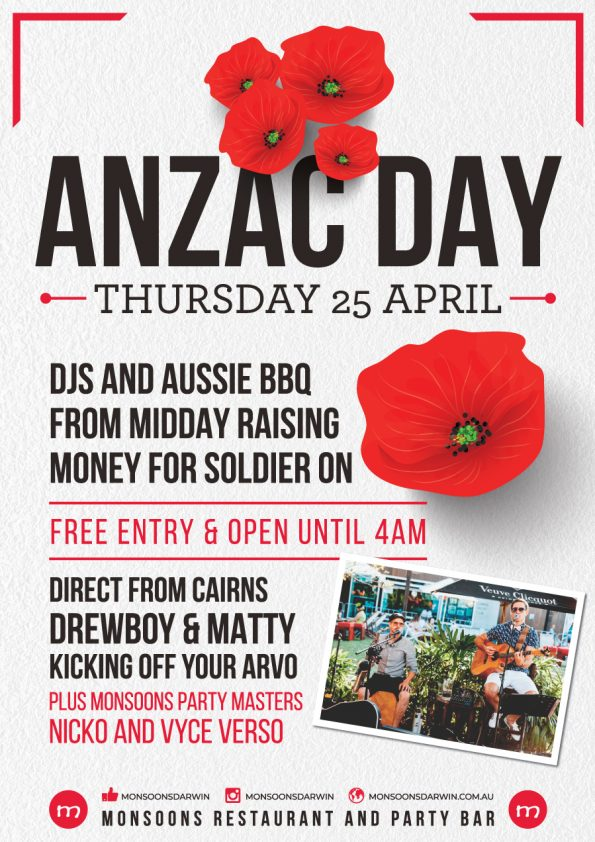 Anzac Day at Monsoons Party Bar Darwin